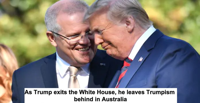 as trump exits the white house, he leaves trumpism behind in australia