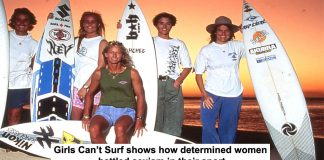 girls can't surf shows how determined women battled sexism in their sport