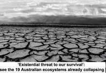 'existential threat to our survival': see the 19 australian ecosystems already collapsing