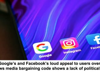 google's and facebook's loud appeal to users over the news media bargaining code shows a lack of political power