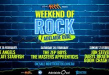 that radio chick cheryl lee reviews weekend of rock at adelaide oval