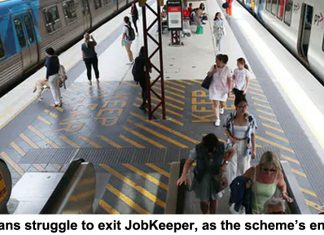 victorians struggle to exit jobkeeper, as the scheme's end looms