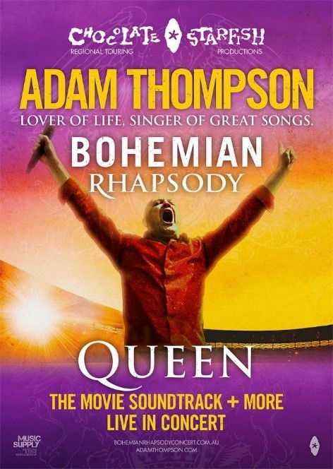 chocolate starfish's adam thompson takes hisbohemian rhapsodyconcert back out on the road in 2021