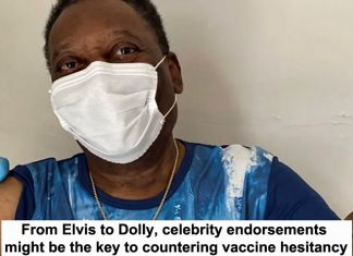 from elvis to dolly, celebrity endorsements might be the key to countering vaccine hesitancy