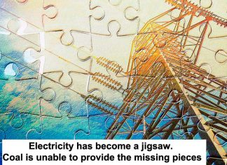 electricity has become a jigsaw. coal is unable to provide the missing pieces