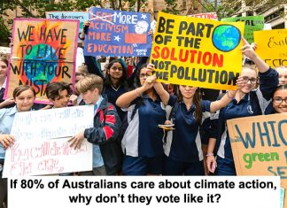 if 80% of australians care about climate action, why don't they vote like it?