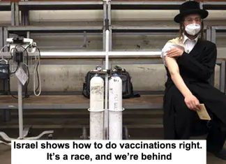 israel shows how to do vaccinations right. it's a race, and we're behind