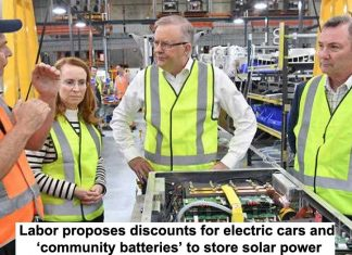 labor proposes discounts for electric cars and 'community batteries' to store solar power
