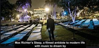 max richter's sleep, a filmed antidote to modern life with music to dream by