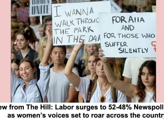 view from the hill: labor surges to 52-48% newspoll lead, as women's voices set to roar across the country