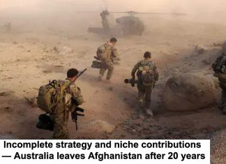 department of defence/aap incomplete strategy and niche contributions — australia leaves afghanistan after 20 years