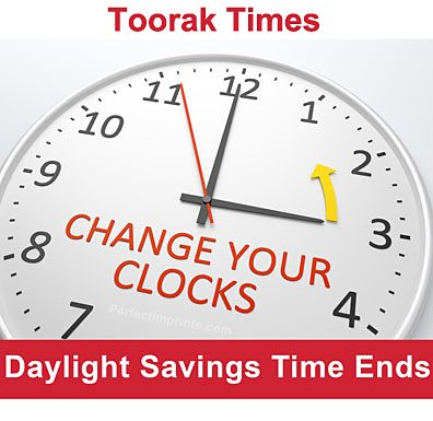 daylight savings has ended