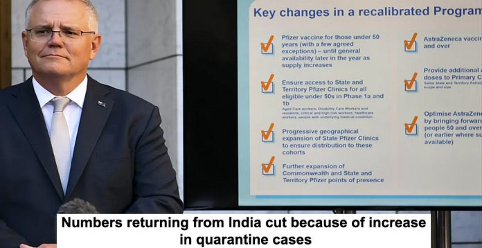 numbers returning from india cut because of increase in quarantine cases