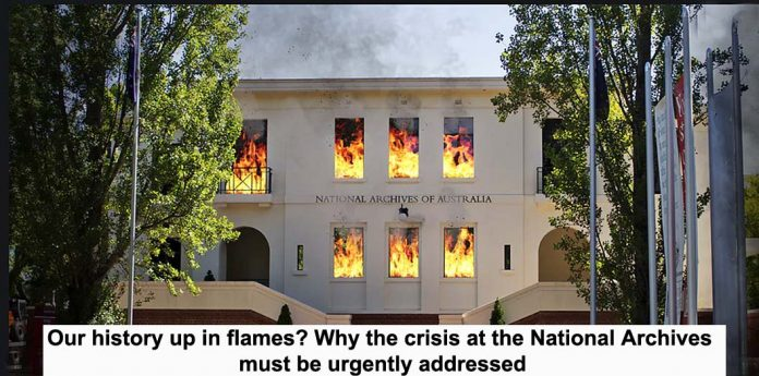 our history up in flames? why the crisis at the national archives must be urgently addressed