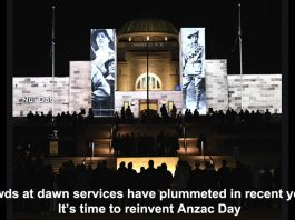 crowds at dawn services have plummeted in recent years. it's time to reinvent anzac day
