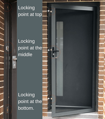 why should my security door have a three-point lock … and what is it?