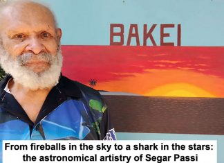 from fireballs in the sky to a shark in the stars: the astronomical artistry of segar passi