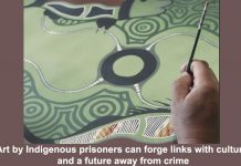art by indigenous prisoners can forge links with culture and a future away from crime