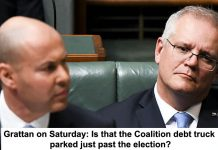 grattan on saturday: is that the coalition debt truck parked just past the election?