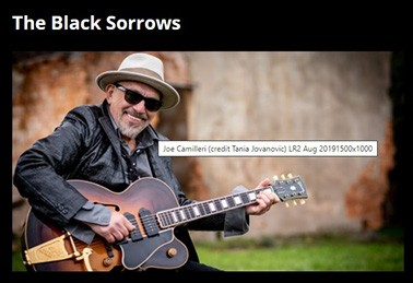 russell morris joins the black sorrows, diesel and more @ yarraville live