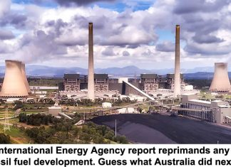 new international energy agency report reprimands any new fossil fuel development. guess what australia did next?