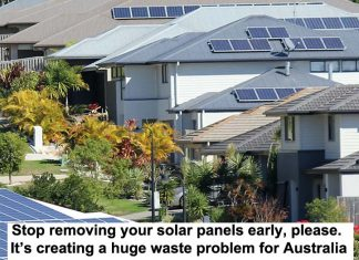 stop removing your solar panels early, please. it's creating a huge waste problem for australia
