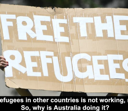 resettling refugees in other countries is not working, nor is it fair. so, why is australia doing it?