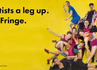 give artists a leg up. give to fringe.