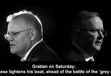 grattan on saturday: albanese lightens his boat, ahead of the battle of the 'grey men'