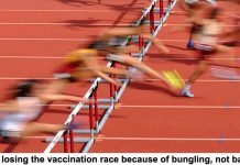 we're losing the vaccination race because of bungling, not bad luck