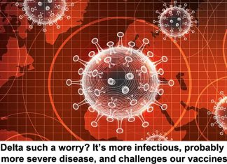 why is delta such a worry? it's more infectious, probably causes more severe disease, and challenges our vaccines