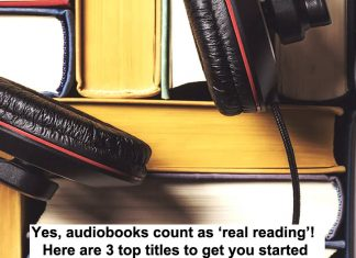 yes, audiobooks count as 'real reading'. here are 3 top titles to get you started