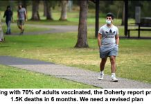 opening with 70% of adults vaccinated, the doherty report predicts 1.5k deaths in 6 months. we need a revised plan