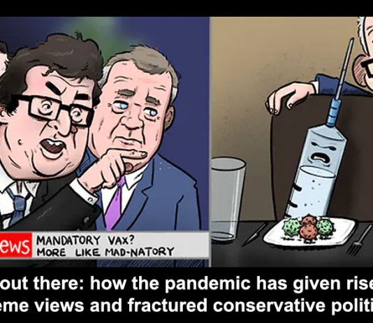 The pandemic extreme views fractured conservative politics header