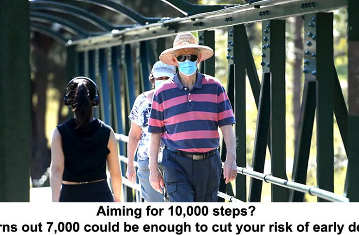 aiming for 10,000 steps? it turns out 7,000 could be enough to cut your risk of early death