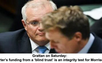 grattan on saturday: porter's funding from a 'blind trust' is an integrity test for morrison