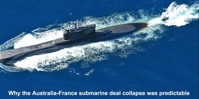 why the australia-france submarine deal collapse was predictable