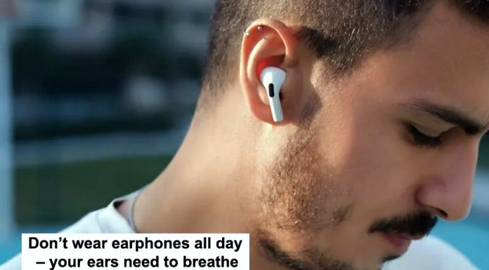 don't wear earphones all day – your ears need to breathe