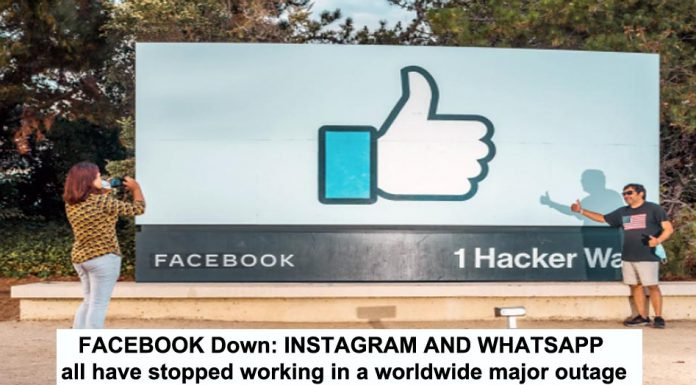 facebook down: instagram and whatsapp all have stopped working in a worldwide major outage
