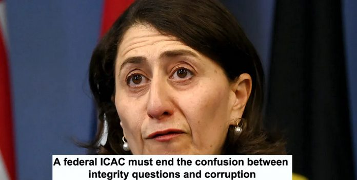 a federal icac must end the confusion between integrity questions and corruption