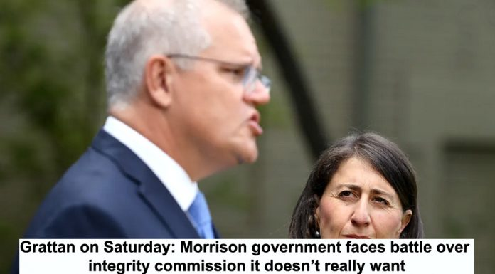 grattan on saturday: morrison government faces battle over integrity commission it doesn't really want